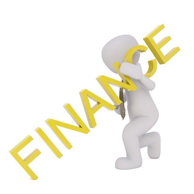panáček, nápis finance