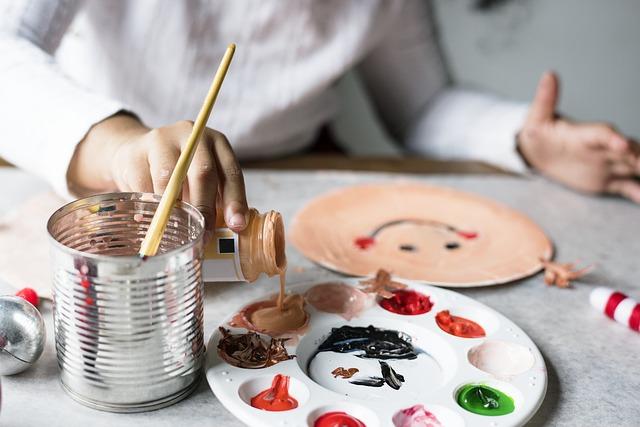 malování na tácky