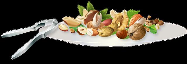 obrázek více druhů ořechů